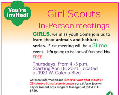 Girl Scouts events on Thursdays